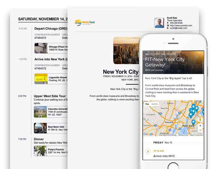itinerary builder